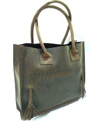 Buffalo Leather Designer Tote Bag