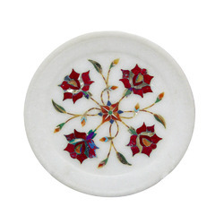 White Marble Inlay Plates