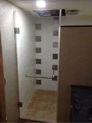 Swing Plain Shower Glass Door, Size: 8 Mm Thick