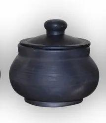 Earthen Black Curd Pot ( 500 Ml)