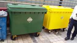 Green 660 L Outdoor Dustbin
