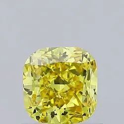 Yellow Cushion Cut Diamond  0.61ct VS2 Lab Grown Fancy Color IGI Certifed Stones