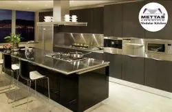 Modular Kitchen In StainlessSteel