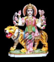 Marble Durga Mata On Tiger