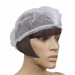 White Disposable Non Woven Shower Cap