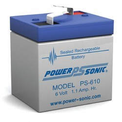 6V 1.1AH Sealed Lead Acid Battery