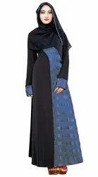 Women's Lycra Islamic Wear Printed Abaya Burkha Hijab Scarf