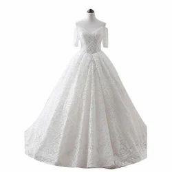White Female Designer Bridal Dress
