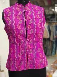 Sleeveless Beautiful Pink Trendy Girls Jacket