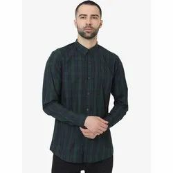 Green Hill Men's Checkered Casual Oxford Shirt