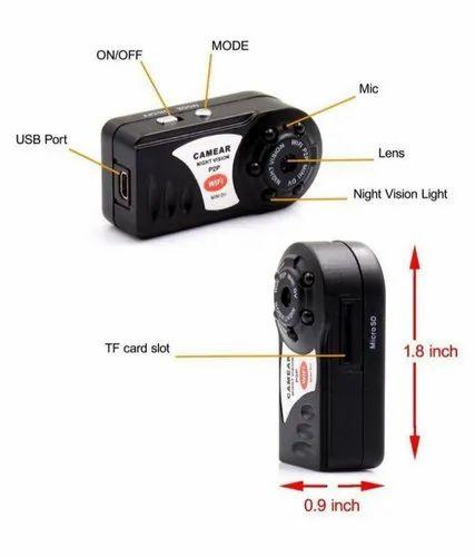 Night Vision P2p Hd Wifi Mini Dv Button Spy Camera
