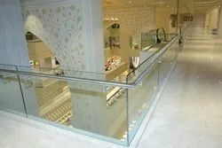 Stainless Steel Tempered Glass Balcony Railing, For Construction