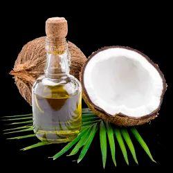 冷榨椰子油,用于头发