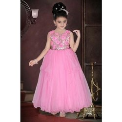 Pink Party Wear Kids Wear Party Gown