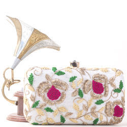 Embroidered Colorful Clutch