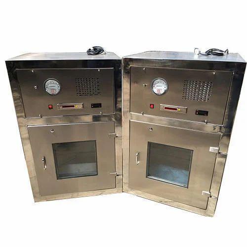 Shreenath SS Dynamic Pass Box, Size: 600x600x600 mm