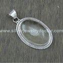 Rose Quartz Gemstone 925 Sterling Silver Jewelry Pendant