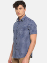 Royal Blue Half Sleeve Shirts For Men