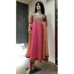 Georgette Full Sleeve Embroidered Anarkali Suit