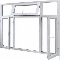 Modern White Powder Coated Aluminum Casement Window, For Home