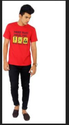 Men Youngsters Choice Printed Mens Round Neck Red T Shirt