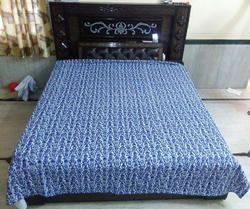 Cotton Indigo Blue Kantha Bed Covers