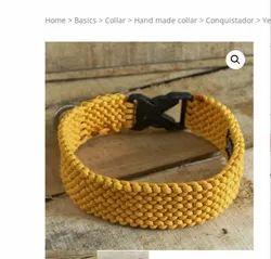 Yellow Conquistador Dog Collar