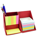 Awestuffs Red Folding Stationery Cube With Sticky Memo Notes, Size: 9 X 9 X 9 Cm