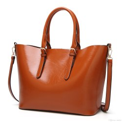 79a1bb613df0 Brown Plain Ladies Leather Handbag