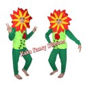Kids Red Double Shade Flower Costume