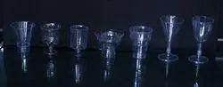 White Plastic P.S.Acralic Glass