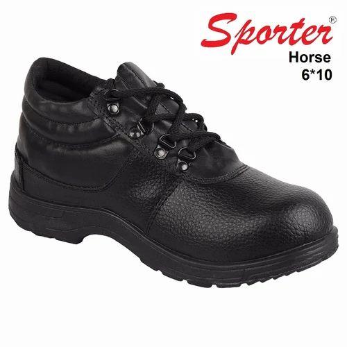 Rexine Sporter Men Black Horse Safety