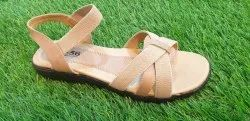 Cream Party Wear Ladies Casual Sandle, Size: 7 T- 14, Packaging Type: Box