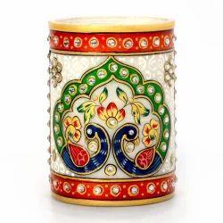Mayur Design White Marble Pen Stand 386
