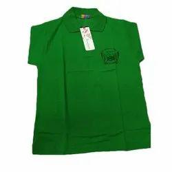 Cotton School Green Polo T-Shirt, Size: S-XL