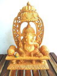 Wooden Mehrab Ganesha With Cut Work