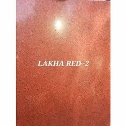 Big Slab Glossy Lakha Red 2 Granite, For Countertops, Thickness: 15-20 mm