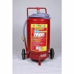 Intime A B C Dry Powder Type Trolley Mounted DCP Fire Extinguishers, Model Name/Number: DCPT-25