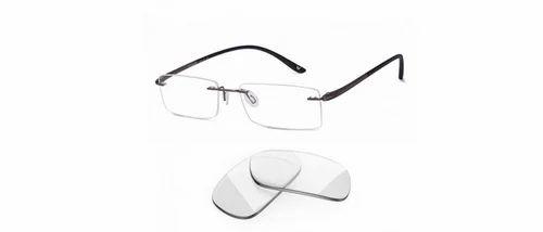 addbaaf427 Vincent Chase Gunmetal Grey Black Rimless Rectangle Medium Eyeglasses