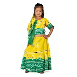 Sanganeri Yellow Lehenga Choli Set 114A