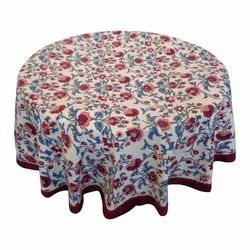 Hand Block Printed Round Table Cloth