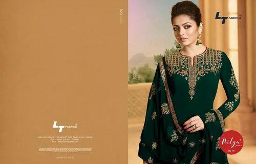 e36f7f818c LT Nitya 119 Georgette Embroidered Straight Salwar Suit, Rs 1775 ...