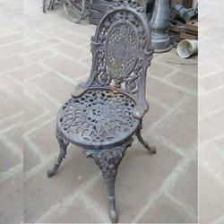 Optional Normal Cast Iron Outdoor Chair, Size: 50*50*90 Cm