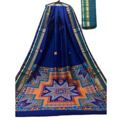 Assorted Festive Wear Printed Ladies Bhagalpuri Saree, Machine Made, 6 m (with blouse piece)