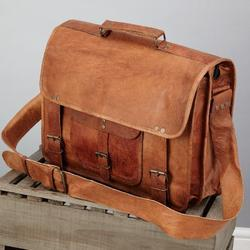 Goat Vintage Leather Messenger Bag