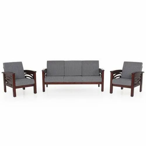 Simple Wooden Sofa Set