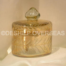 Glass Color Jar