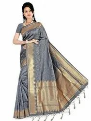 Trendy Art Silk Saree With Blouse By Parvati Fabric