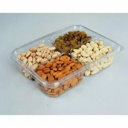 Plastic Disposable 200 gm Dry Fruit Hinged Box, 4