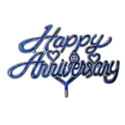 Happy Anniversary Cake Plastic Topper